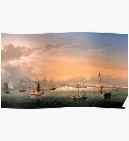 Fitz Henry Lane - Boston Harbor  Poster