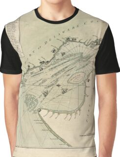 American Revolutionary War Era Maps 1750-1786 004 A chart of Delaware Bay and River containing a full and exact description of the shores creeks harbours Graphic T-Shirt