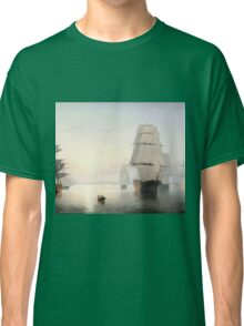 Fitz Henry Lane - Boston Harbor Sunset  Classic T-Shirt