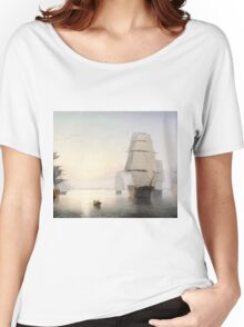 Fitz Henry Lane - Boston Harbor Sunset  Women's Relaxed Fit T-Shirt