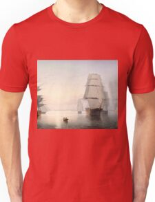 Fitz Henry Lane - Boston Harbor Sunset  Unisex T-Shirt