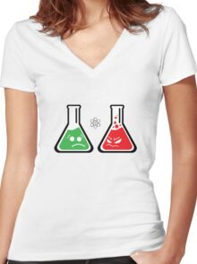 Funny Science Women's Fitted V-Neck T-Shirt