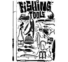 fishing tools black Photographic Print