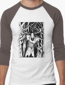 Leshen (Black) Men's Baseball ¾ T-Shirt