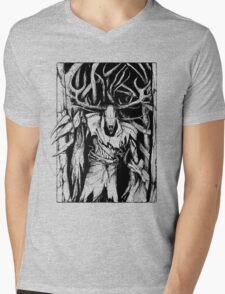 Leshen (Black) Mens V-Neck T-Shirt