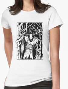 Leshen (Black) Womens Fitted T-Shirt