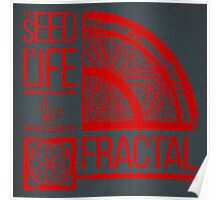 Sacred Geometry-The Seed of life-FRACTAL Poster
