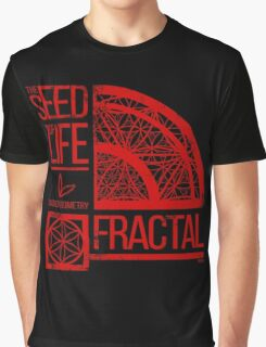 Sacred Geometry-The Seed of life-FRACTAL Graphic T-Shirt