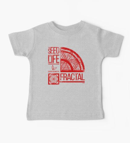 Sacred Geometry-The Seed of life-FRACTAL Baby Tee