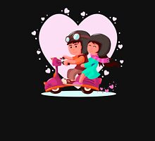 Lovely Couple Riding Unisex T-Shirt