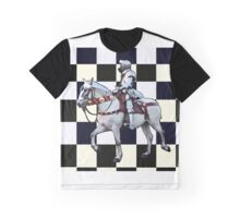 Knight on horseback with Chess board Graphic T-Shirt