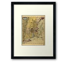 American Revolutionary War Era Maps 1750-1786 100 A map of the most inhabited part of New England containing the provinces of Massachusets Bay and New Framed Print