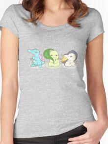 Johto Starter Pokemon Women's Fitted Scoop T-Shirt