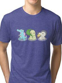 Johto Starter Pokemon Tri-blend T-Shirt