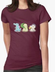 Johto Starter Pokemon Womens Fitted T-Shirt