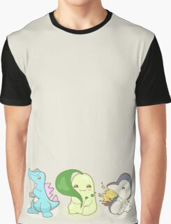 Johto Starter Pokemon Graphic T-Shirt