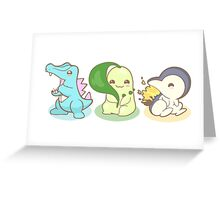 Johto Starter Pokemon Greeting Card