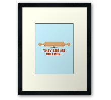 Character Building - Rolling Framed Print