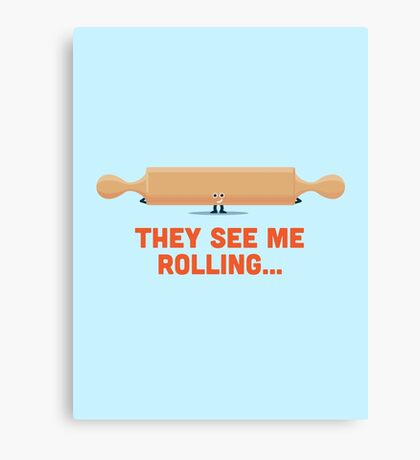 Character Building - Rolling Canvas Print