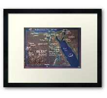 Map of Ancient Egypt Framed Print