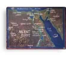 Map of Ancient Egypt Canvas Print