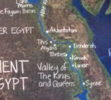 Map of Ancient Egypt Sticker