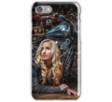 Biker Babe iPhone Case/Skin