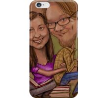 Caricature of my daughter and her fella  iPhone Case/Skin