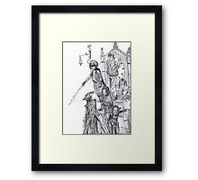 compilation of characters Framed Print