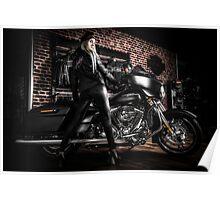 Dark Biker Chic Poster