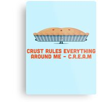 Character Building - Crust rules everything around me… Metal Print