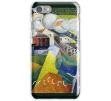 Gino Severini - Red Cross Train Passing a Village  iPhone Case/Skin