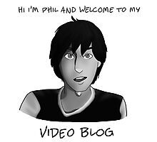 AmazingPhil - Phil's Video Blog Photographic Print