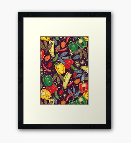 Hot & spicy! Framed Print