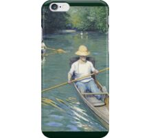 Gustave Caillebotte - Skiffs iPhone Case/Skin