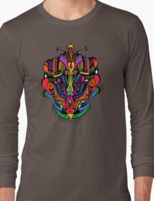 Loudly Colored Psychedelic Mask Long Sleeve T-Shirt