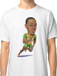 Usain Bolt Running Drawing  Classic T-Shirt