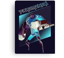 FRAGMENTAL BLUE CHARACTER BY RUFFIAN GAMES Canvas Print