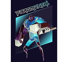 FRAGMENTAL BLUE CHARACTER BY RUFFIAN GAMES Photographic Print