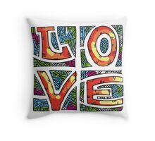 Love Alphabet Throw Pillow
