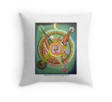 La historia del sol by Diego Manuel Throw Pillow