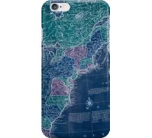 American Revolutionary War Era Maps 1750-1786 350 Bowles's new pocket map of the United States of America the British possessions of Canada Nova Scotia and Inverted iPhone Case/Skin