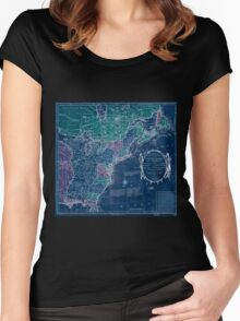 American Revolutionary War Era Maps 1750-1786 350 Bowles's new pocket map of the United States of America the British possessions of Canada Nova Scotia and Inverted Women's Fitted Scoop T-Shirt