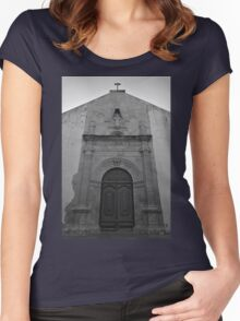 Church of Misericordia Facade in Tavira Women's Fitted Scoop T-Shirt