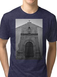 Church of Misericordia Facade in Tavira Tri-blend T-Shirt