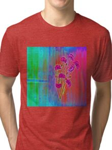 Wall flower with textured colour enhanced  Tri-blend T-Shirt