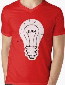Idea lamp Mens V-Neck T-Shirt