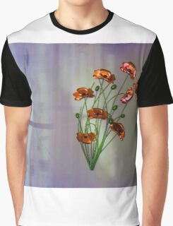 Wall flower with textured colour background Graphic T-Shirt