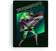 FRAGMENTAL GREEN CHARACTER BY RUFFIAN GAMES Canvas Print