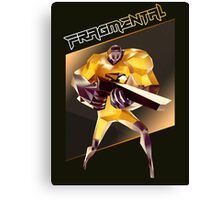 FRAGMENTAL ORANGE CHARACTER BY RUFFIAN GAMES Canvas Print